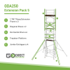 Extension pack for GDA250 Mobile Scaffolding tower Pack 5