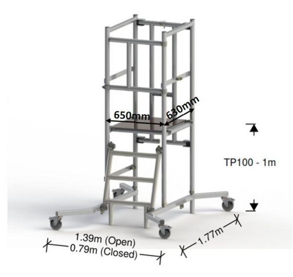 Podium TP100 1M (3M Working Height)